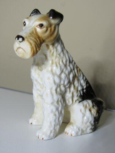 Bisque Porcelain Wire Hair Fox Terrier Figurine Dog
