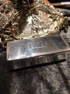 Magnificent Rare Antique Solid Silver Nathaniel Mills Snuff Box William lV 1835