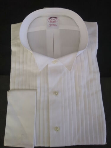 NWT Brooks Brothers White Formal Shirt 18-34 Traditional Fit MSRP $128
