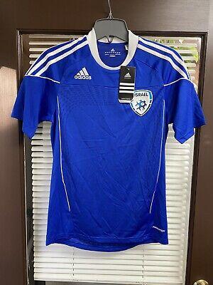 Vintage NWT 2010 Authentic Israel Soccer Jersey Adidas Futbol Football image