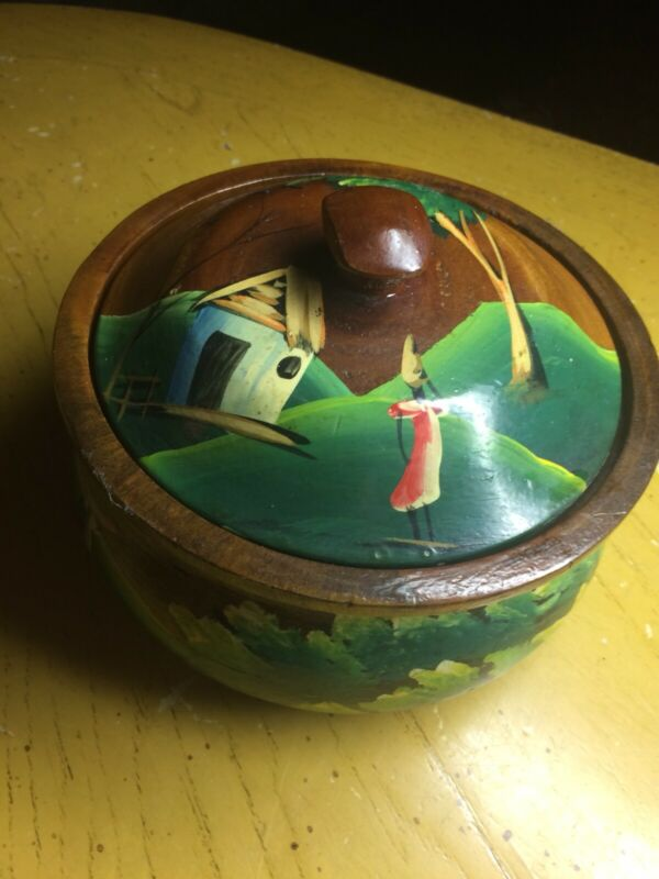 Wood Bowlhand Painted