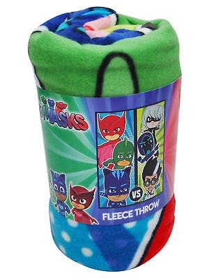 Kids PJ Masks Good Evil Fleece Throw Blanket 45