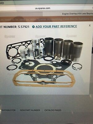 International Bd154 Major Engine Overhaul Kit - 364 374 384 414 444 B434 2444