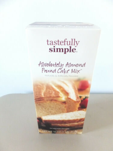 NEW LOT OF 4 TASTEFULLY SIMPLE ABSOLUTELY ALMOND POUND CAKES NEW NOT SHIPPED IN