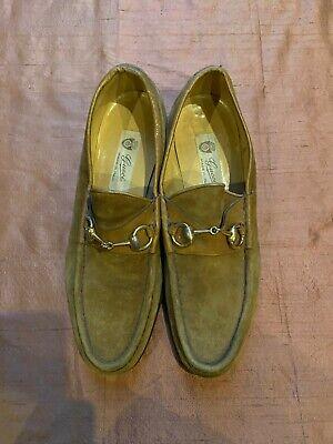 Vintage Gucci Brown Suede Horesbit Loafers Mens Size 10.5 43.5