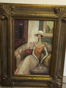 Painting and frame