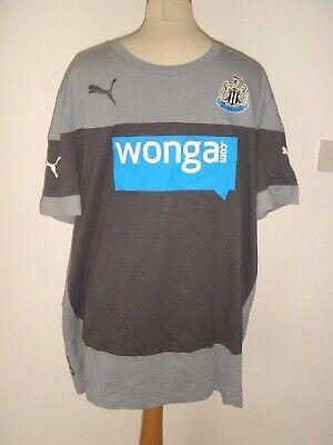 01 Newcastle Utd NUFC Grey Away Puma Football Shirt Wonga Sponsor Size XL