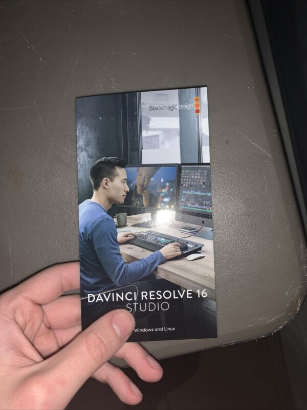 Blackmagic Design Davinci Resolve Studio 16 / 17 License Key