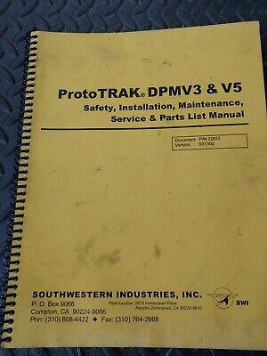 Southwestern Prototrak Dpmv3v5 Service And Parts List Manual