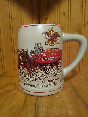Vintage Ceramarte Budweiser Champion Clydesdales St Louis, MO Stein