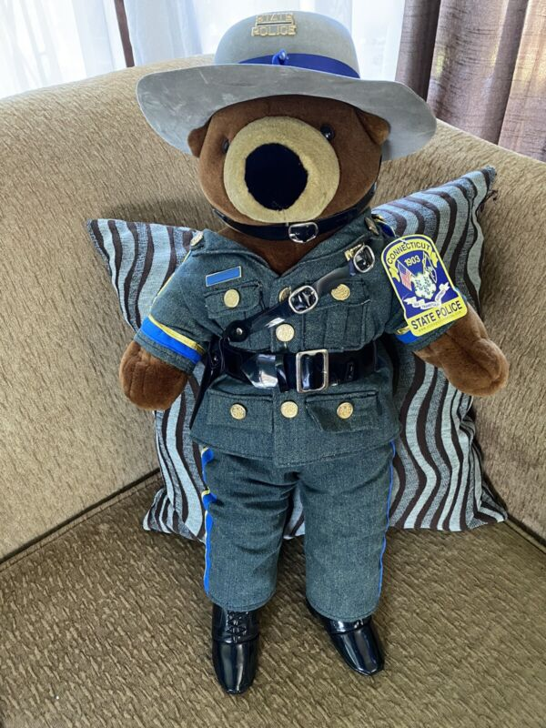 RARE!! Connecticut State Police Teddy Bear - Full Uniform 22""