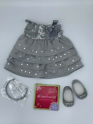 AMERICAN GIRL SILVER SHIMMER DRESS OUTFIT (Silver Shimmer Outfit)