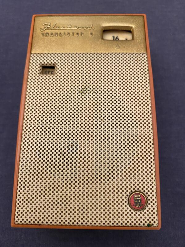 1960s Fleetwood Transistor Six TH-624 Handheld Radio Coral Pink WORKS MCM 6 Rare