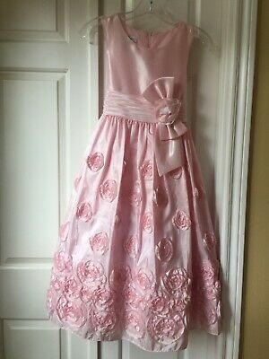 Gorgeous Flower Girl Dresses (Gorgeous pink with flowers & tulle Easter/Flower Girl Bonnie Jean Dress Size)