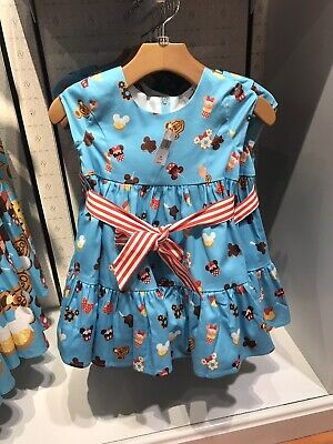 Disney Parks The Dress Shop Food Icons Snacks Dress for Girls Youth XS