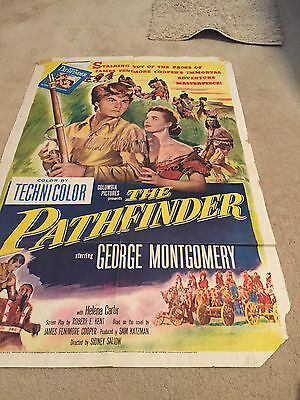 ORIGINAL ONE SHEET 27 X41 VINTAGE POSTER  FOLDED THE PATHFINDER MONTGOMERY