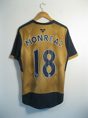 ARSENAL | Men's 2015/16 Puma Gold Away Football Shirt Jersey #18 MONREAL | S