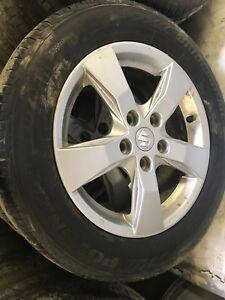 205/60/16 Bridgestone tire+rims 70%