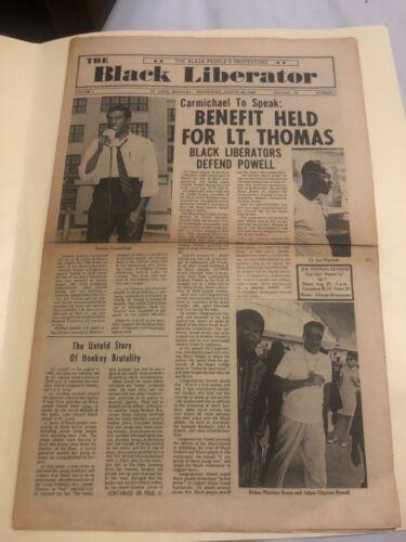 Ultra Rare! The Black Liberator Newspaper Premiere Issue Vol.1 #1 ( Short Run)