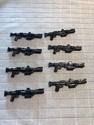 8x Sandtrooper  Star Wars Blaster Lego Waffen Stormtrooper Pistole ucs Gewehr ()
