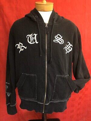 RARE RUSH band Zip Up Hoodie Sweatshirt Vintage 1977 NEIL PEART 70s Md/lg