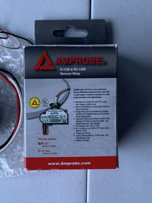 Amprobe R-115S Remcon Switch Relay (3-Wire) Free Shipping