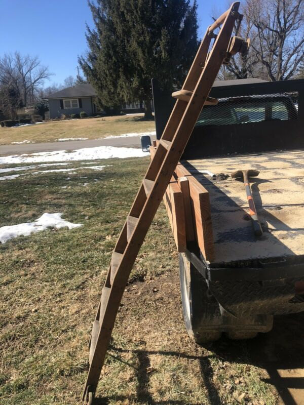 Antique Rolling Library Ladder 7