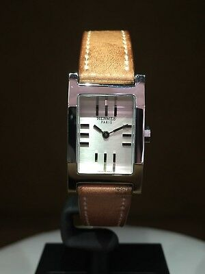 NEW Authentic HERMES TANDEM TA1210280 30MMX19MM S/S BOX /Papers
