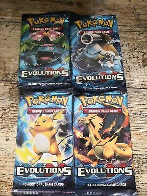 Pokemon Set Of 4x SEALED Booster Packs - XY Evolutions - ART SET.