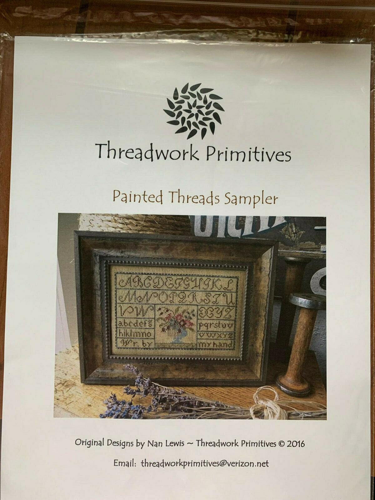 Painted Threads Cross Stitch Chart by Threadwork Primitives