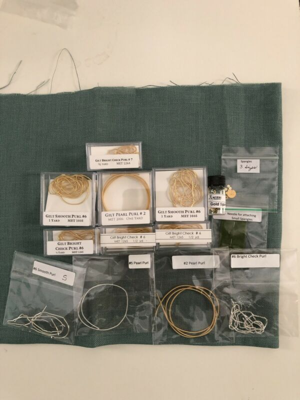 Gilt Purl And Spangle Thread  Lot