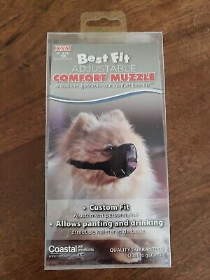 Coastal Pet Best Fit Open Nosed Comfort Dog Muzzle for Miniature Breeds 3 - 3.75 Best Fit Dog Muzzle