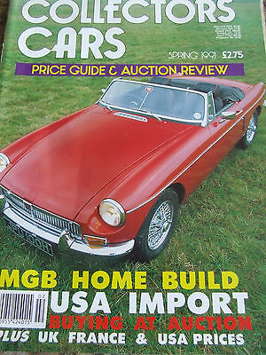COLLECTORS CARS SPRING 1991 PRICE GUIDE & AUCTION REVIEW MGB USA IMPORT (Price Usa Review)