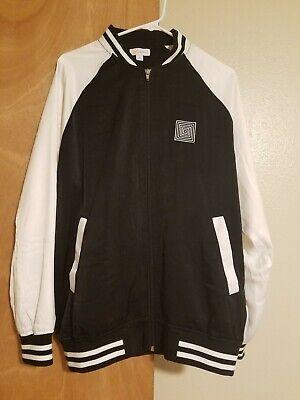 Lularoe Baseball Bomber Jacket Black White Large HTF Excellent Condition