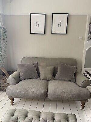 Sofa.com Saturday 2 Seater Sofa In Pigeon Herringbone Weave