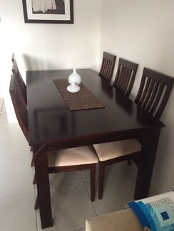 Dining table 7 piece wood Clayfield Brisbane North East Preview