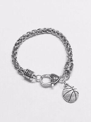 Sports Mom Charm - Basketball Charm Bracelet Sports Mom Daughter Christmas Gift For Her