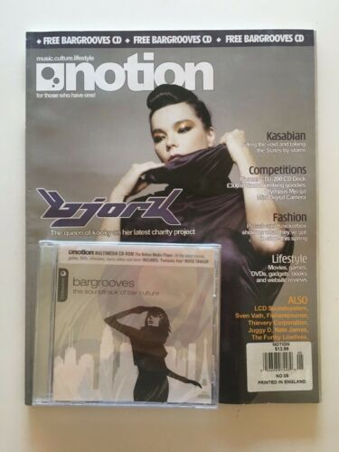 NOTION UK Music Magazine #5 BJORK w/ CD 2005 OOP LCD Soundsystem Thievery Corp
