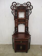 C21020 Beautiful Oriental Style Carved Corner Hall Stand Unley Unley Area Preview