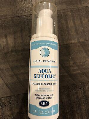 Facial cleanser Aqua Glycolic Advanced Cleansing Care 6 Fl Oz Brand New E3