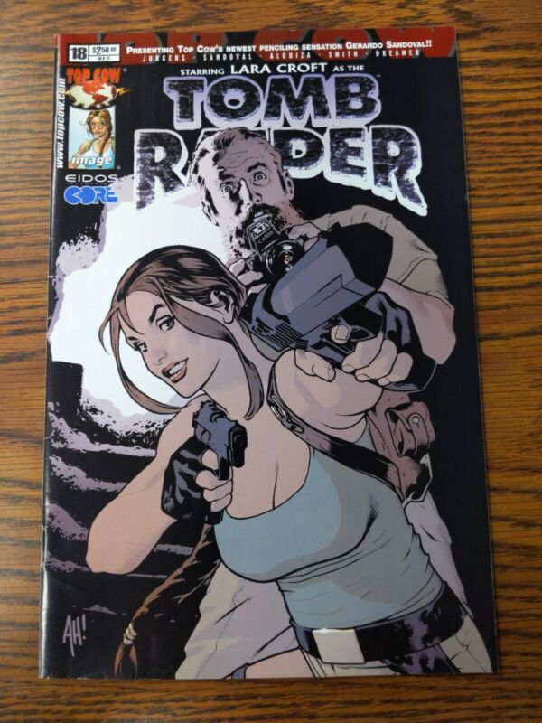 TOP COW Comics TOMB RAIDER 1999 #19 LARA CROFT Adam HUGHES Cover VF/NM Ship FREE