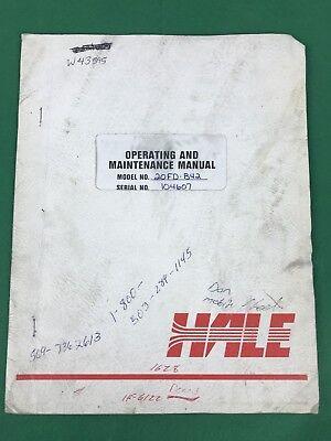 Hale 20fd B42 Fire Pump Operating Maintenance Manual