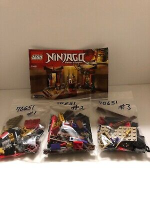 LEGO Throne Room from Ninjago 70651 with instructions**NO MINIFIGURES//NO BOX**