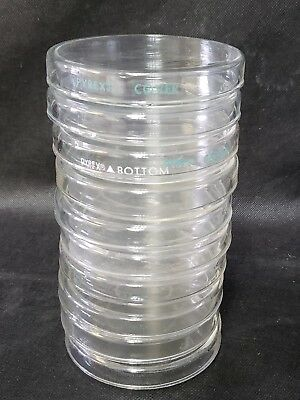 Lot Of 10 Pyrex Petri Dish Complete Laboratory Glassware