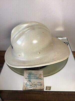 Vtg Ed Bullard Fiberglass Hard Boiled Hard Hat Liner- Fireman Miner