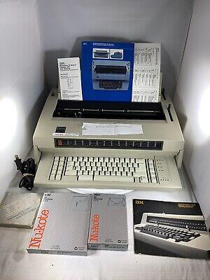 Ibm Wheelwriter 3 Iii Electronic Electric Typewriter W Ribbons Manual