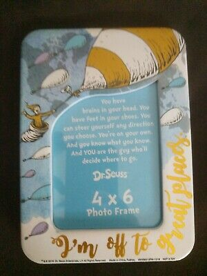 Dr Seuss Oh The Places You'll Go, Sculpted Ceramic Frame