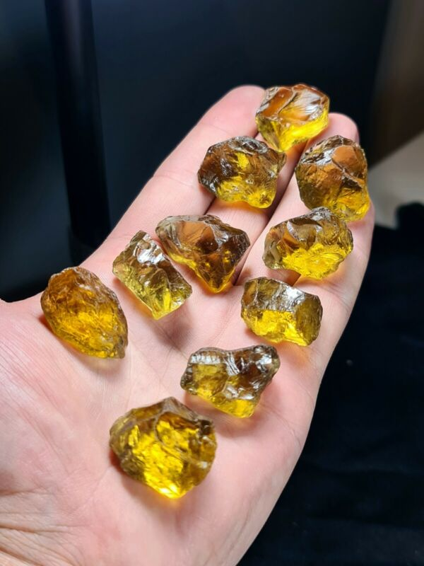 Rough Citrine Crystals Cutting Grade Chunks For  Faceting And Jewellery Making