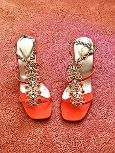Sparkling crystals fancy heel (Orange) Kenwick Gosnells Area Preview