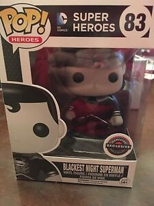 Blackest night superman funko pop GameStop exclusive
